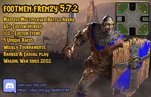 Reforged Footmen Frenzy Warcraft 3: Featured map big teaser image