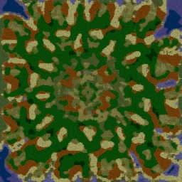 Emerald Gardens 3.39f11.3 - Warcraft 3: Mini map