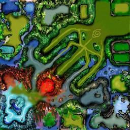 Naruto Castle Defense 6.9 - Warcraft 3: Mini map