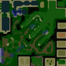 Naruto Castle Defense Extreme - Warcraft 3: Mini map
