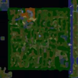 Battle Heroes v2.1 b6 - Warcraft 3: Mini map
