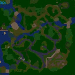 Ninja vs Samurai Panda Version V 1.4 - Warcraft 3: Mini map