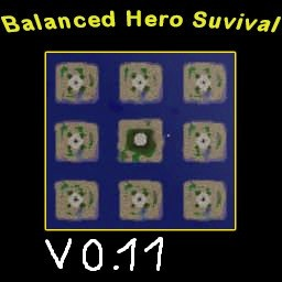 Balanced Hero Survival v0.11 - Warcraft 3: Mini map