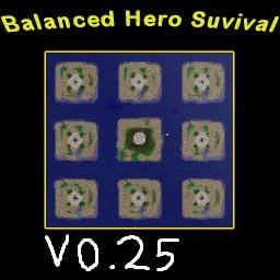 Balanced Hero Survival v0.25 - Warcraft 3: Mini map
