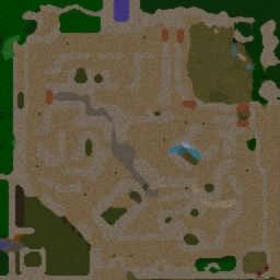 Dota Kale Cagi V2.4 - Warcraft 3: Mini map