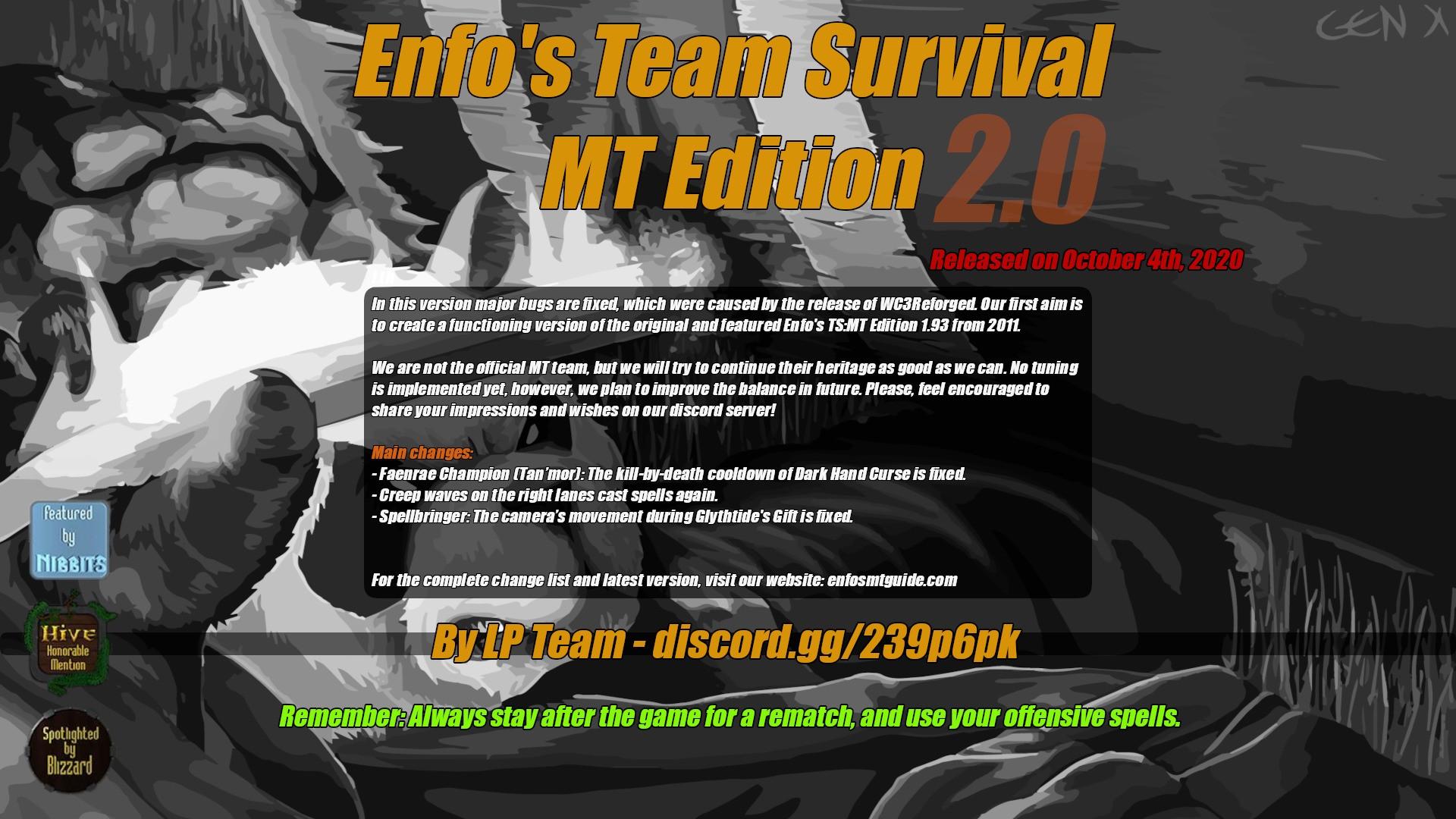 Enfo's TS:MT Edition 2.0 - Warcraft 3: Custom Map avatar
