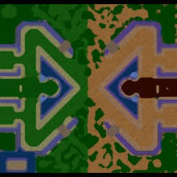 Horde Vs Alliance X3 v3.8 - Warcraft 3: Mini map