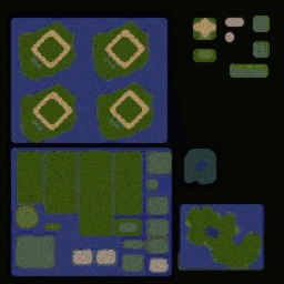 디지몬 랜덤 디펜스R 2.47 - Warcraft 3: Mini map