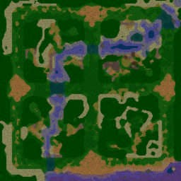 Survival Chaos 3.81 - Warcraft 3: Mini map