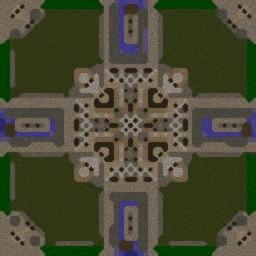 Footmen Frenzy [Action] 4.25C - Warcraft 3: Mini map