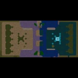 Footmen VS Grunts EXTENSION 16.18c - Warcraft 3: Mini map