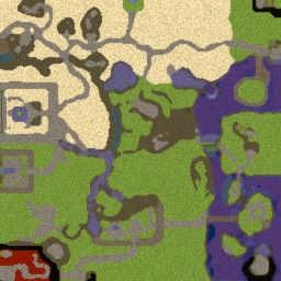 Naruto World Ultimate R10 - Warcraft 3: Mini map