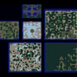 Troll and Elves Plus Test 2 - Warcraft 3: Mini map