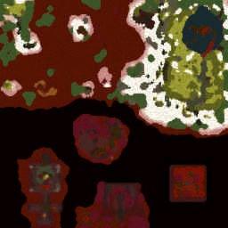 Underground Volcano - Warcraft 3: Mini map