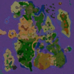 Continent Speed Risk v1.1d - Warcraft 3: Mini map