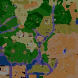 Middle Earth Risk 8.2 (K) - Warcraft 3: Mini map