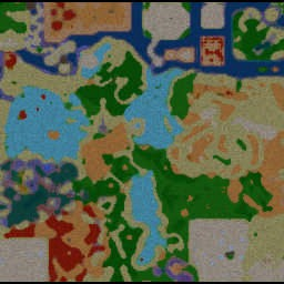DBZ Tribute Ultra V.97 - Warcraft 3: Mini map