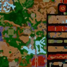 The Blood Way ORPG 1.91m - Warcraft 3: Mini map