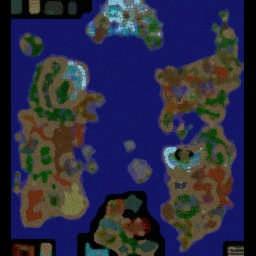 Azeroth Wars BL 1.67b - Warcraft 3: Mini map