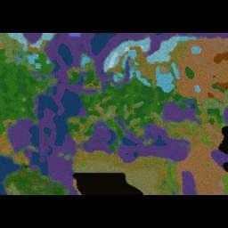 Eras Zombie Invasion Forked 1.1b 24p - Warcraft 3: Mini map