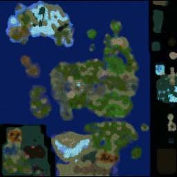 LORDAERON: TF 0.64c - Warcraft 3: Mini map