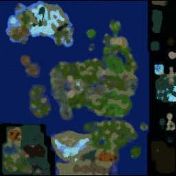 LORDAERON: TF 0.68d - Warcraft 3: Mini map