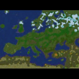 Lords of Europe 2.1.5W - Warcraft 3: Mini map