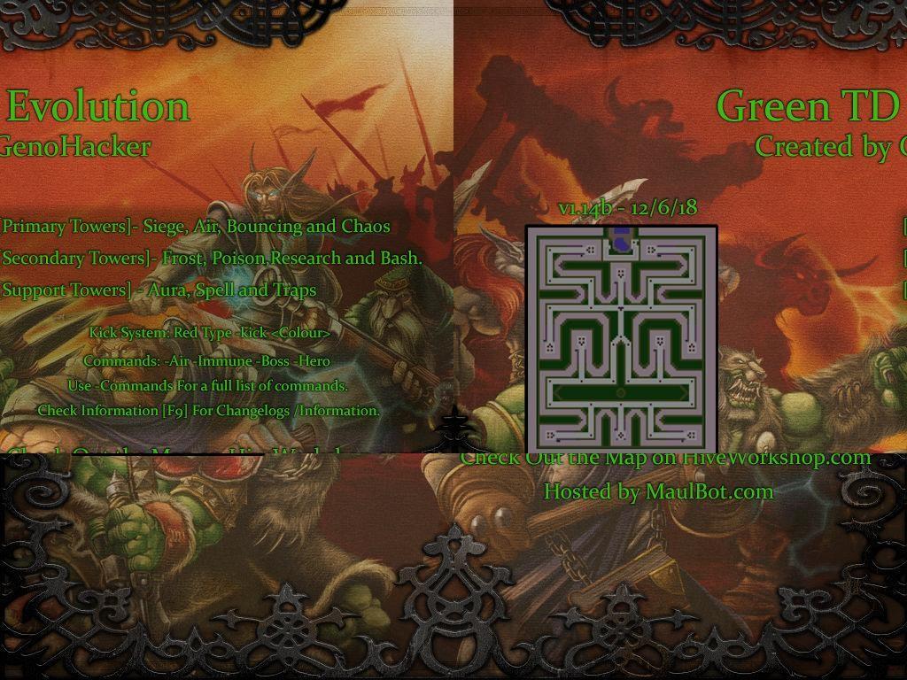 Download map Green TD Evolution - Tower Defense (TD) | 18 different