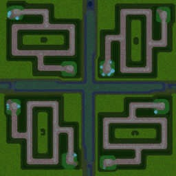 GreenCircle Team TDv3.2G - Warcraft 3: Mini map