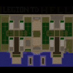 Legion TD HELL v3.98d - Warcraft 3: Mini map