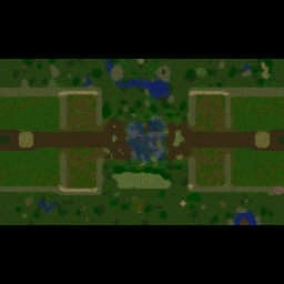 Castle Fight EU v2.0.40 Warcraft 3: Featured map mini map