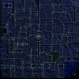 Night of the Dead III.f - Warcraft 3: Mini map