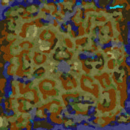 Island Defense 4.1.1h Warcraft 3: Featured map mini map