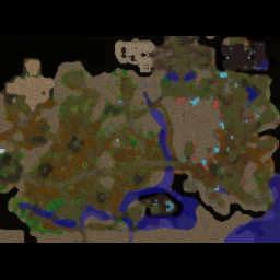 War in the Plaguelands 24R V1.17g - Warcraft 3: Mini map
