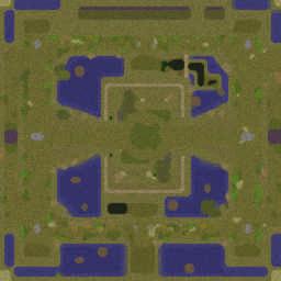 Impossible Hero Defense 31.5 - Warcraft 3: Mini map