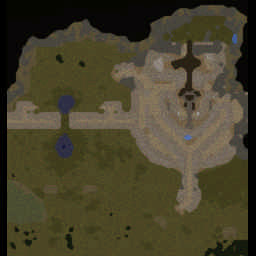 Helm's Deep 6.1b Warcraft 3: Featured map mini map