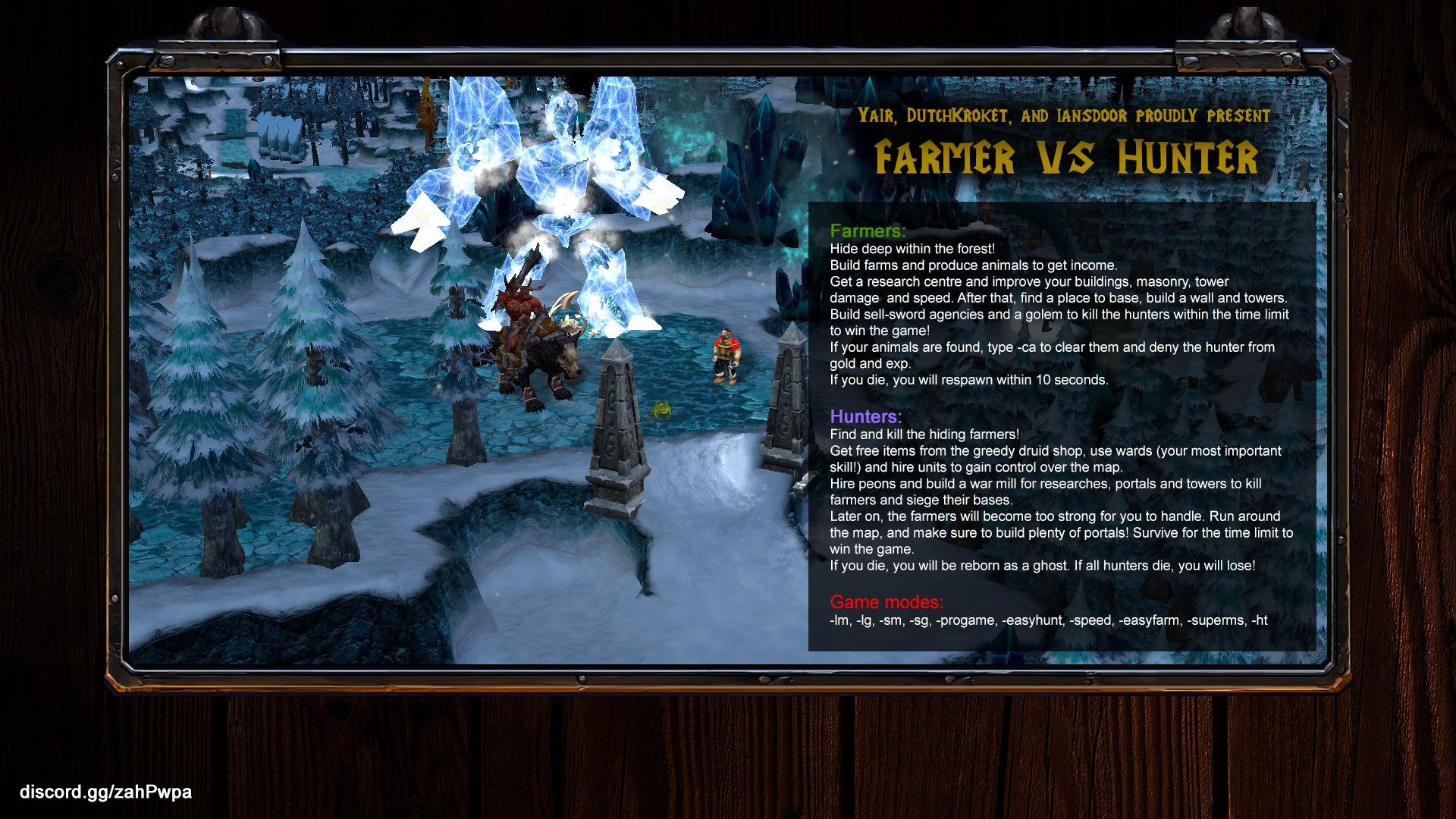 Farmer vs Hunter Reforged v6.0b - Warcraft 3: Custom Map avatar