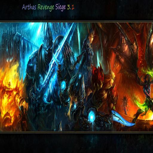 Arthas Revenge Siege Warcraft 3: Map image