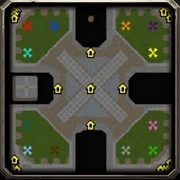 Reforged Footmen 5.7.3 Warcraft 3: Featured map mini map