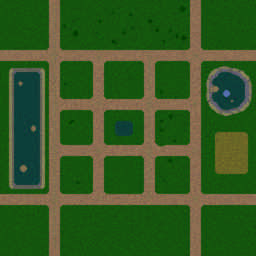 人族無敵II2.3b重製測試版 - Warcraft 3: Mini map