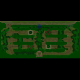 War of Races v0.73c Warcraft 3: Featured map mini map