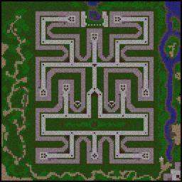 Green TD Evo v2.05 - Warcraft 3: Mini map